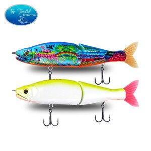"Image 4 - 148mm 5.8 178mm 7"" 220mm 8.7 איטי שוקע מלוחים או צף מים מתוקים גדול בס מפרקים פיתיונות Swimbait דיג פתיונות"