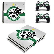 Etiqueta engomada de la piel de Maccabi Haifa FC PS4 Pro para la consola y el controlador de PlayStation 4 Pro para la calcomanía de las pegatinas de Dualshock PS4 Pro de vinilo