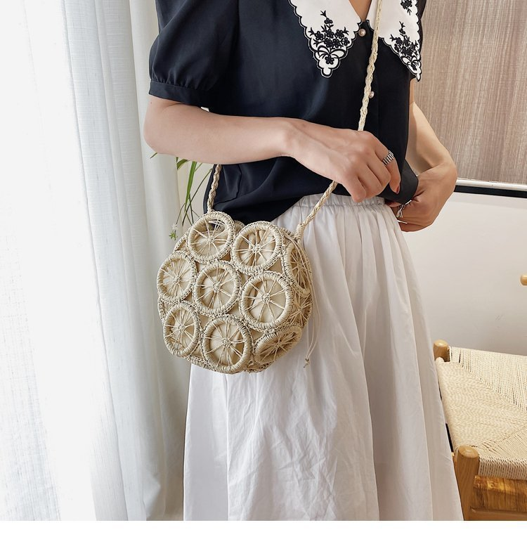 Girl with straw Hand Bags
