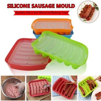 Силиконовая форма для сосисок, 1 шт., ручная работа, для хот-догов, ветчины, 6 в 1, кухонный инструмент для приготовления и охлаждения хот-догов