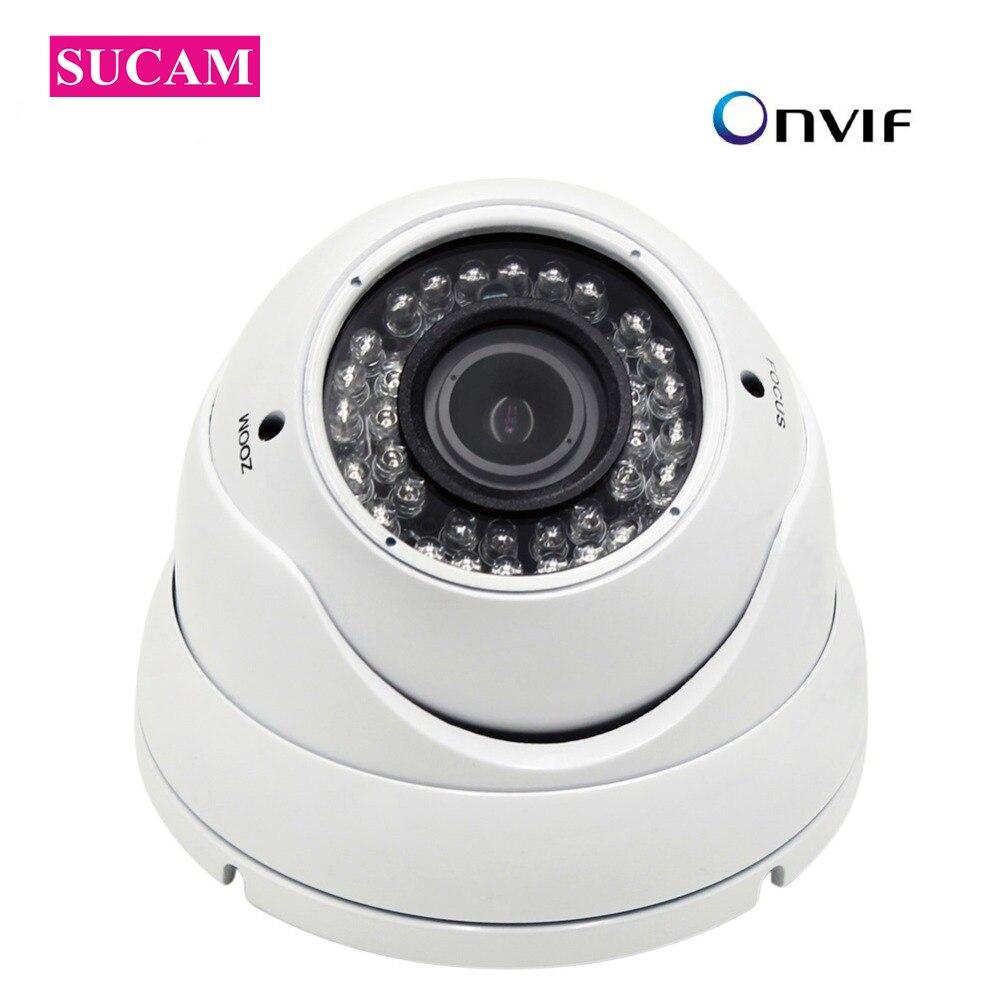 5MP Dome POE IP Camera 2.8-12mm Varifocal Lens Home Security Motion Detection XMEyey ONVIF Surveillance Camera 30M Night Vision