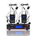 STARAUDIO Drahtlose Mikrofon System Dual Kanal UHF Headset Revers Mikrofon Für Disco Bühne Clubs Kirche KTV Party SMU 0202B Mikrofone Verbraucherelektronik -