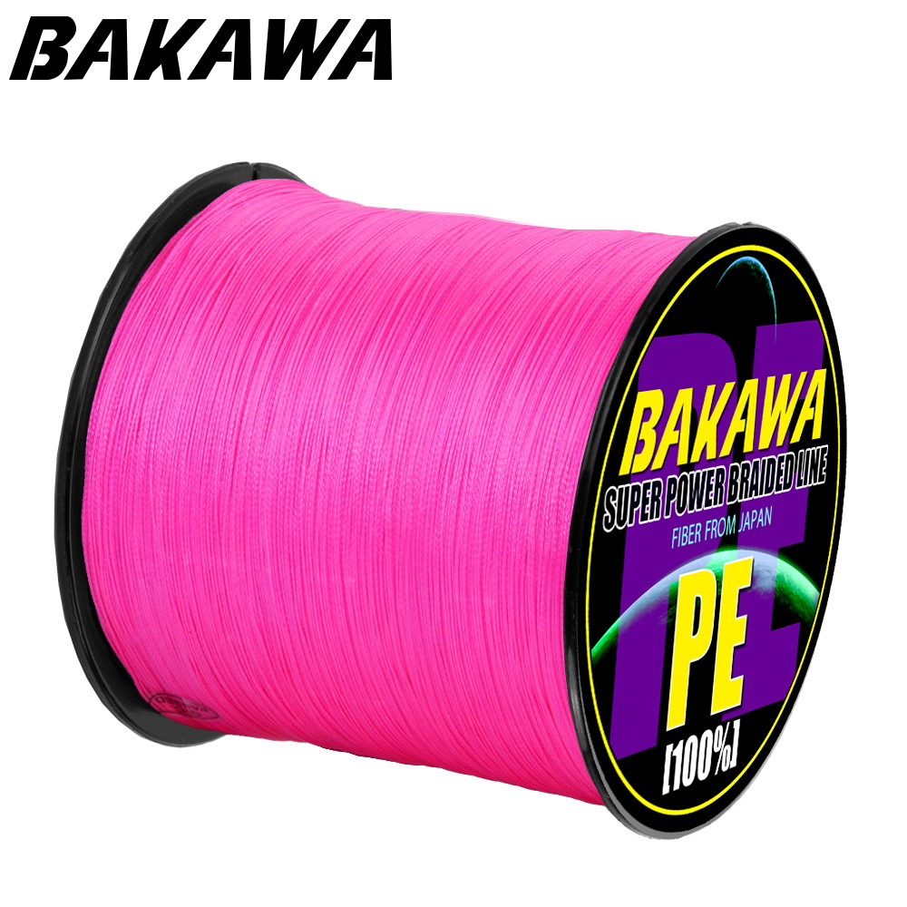 BAKAWA 8 Braid Fishing line 300M 500M 1000M 8 Strands Multifilament Fishing Wire Carp Fishing 22-120lb