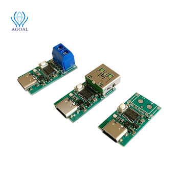 5pcs/lot USB-C PD2.0/3.0 to DC Converter Power Supply Module Decoy Fast Charge Trigger Poll Polling Detector Tester(ZY12PDN)