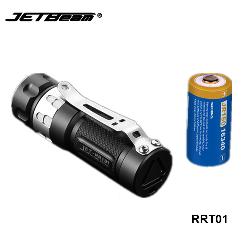 Jetbeam RRT01 Stepless Dimming EDC Flashlight Micro USB Rechargeable 16340 Battery Torch Lamp Cree XPL LED Small Camping Light