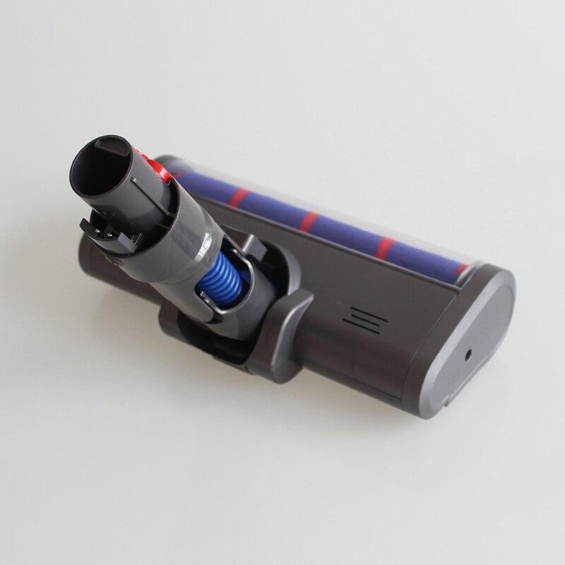 Купить с кэшбэком Dyson v11 Absolute Fluffy Soft Roller Head Quick Release Electric Floor Head for Dyson V7 V8 V10 V11 Vacuum Cleaner Repair Parts