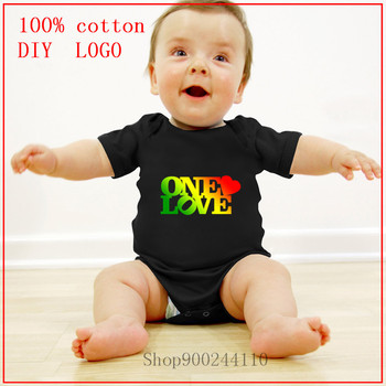 One Love Printed Bodysuits baby Newborn Natural Cotton Playsuits Casual Clothes Kids Cute new born baby boy clothes 3 to 6 month image