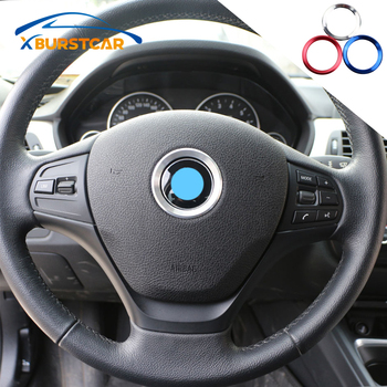 Xburstcar for BMW E39 E36 E60 E90 E34 E46 Car Styling Steering Wheel Decoration Trim Sticker Case Aluminium Accessories image