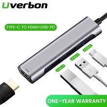 Type-C Hub Multi Docking station Hub HDMI Adapter Apple MacBook converter USB-C Converter Splitter Support USB 3.0+PD