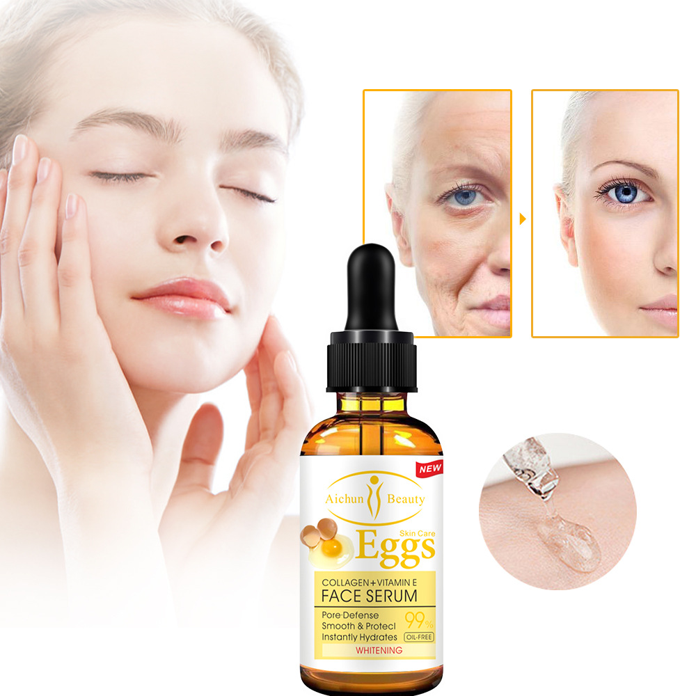 Collagen&Vitamine Egg Face Serum Facial Essence Whitening Moisturizing Brightening Hydrating Repair Cream Anti Wrinkle Aging