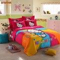 Bettwäsche für Kinder Jungen Mädchen Geschenk Bettbezug Flache Blatt Baumwolle Vier Cartoon Katze Bettwäsche 3/4 Außenhandel XHS0106