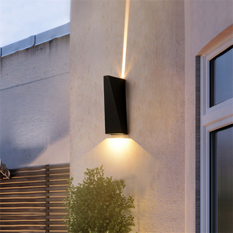 LED Outdoor Wall Light Waterproof Upper And Lower Light Outer Wall Door Column Corridor Aisle Lamps IP65 AC85-220v