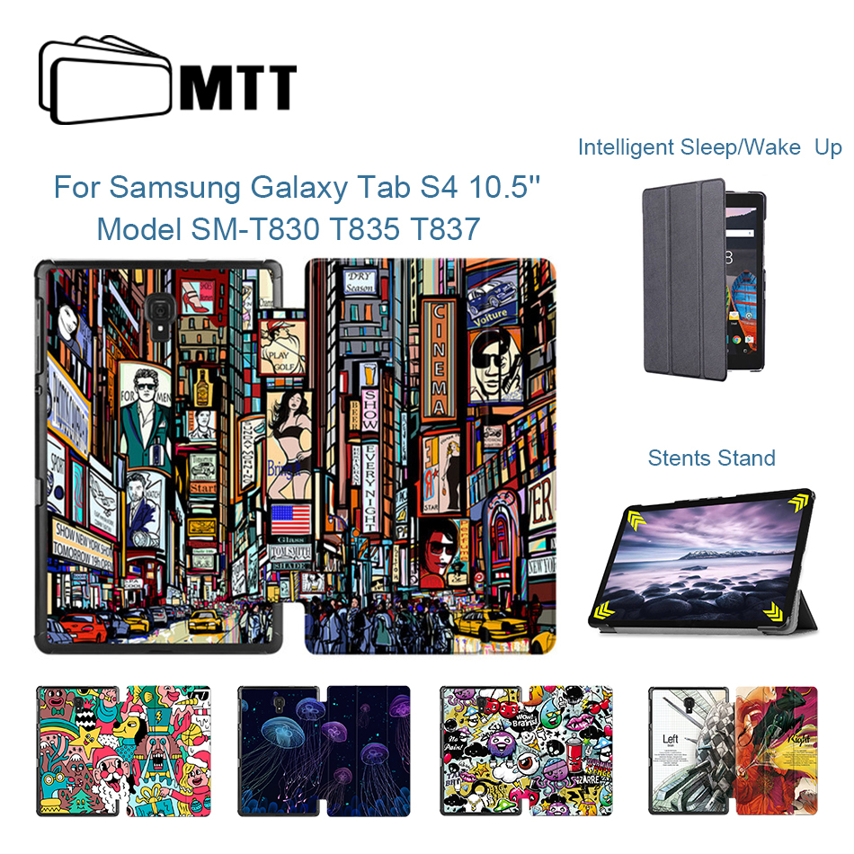 MTT PU Leather <font><b>Case</b></font> Cover For <font><b>Samsung</b></font> <font><b>Galaxy</b></font> <font><b>Tab</b></font> <font><b>S4</b></font> <font><b>10.5</b></font> inch T830 T835 T837 Protective Funda Flip Fold Stand Smart <font><b>Tablet</b></font> <font><b>Case</b></font> image