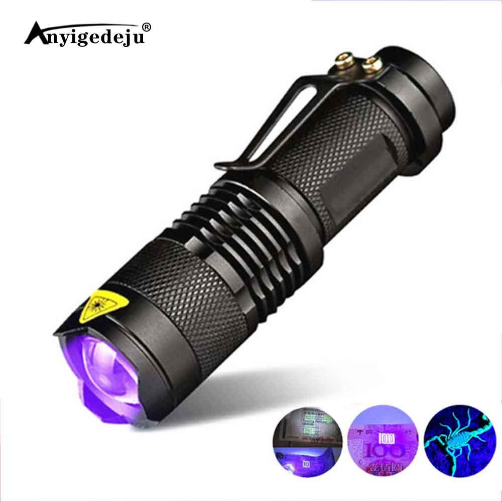UV 100 Leds Flashlight 395nm Ultra Violet Torch Light Lamp Blacklight Detector I