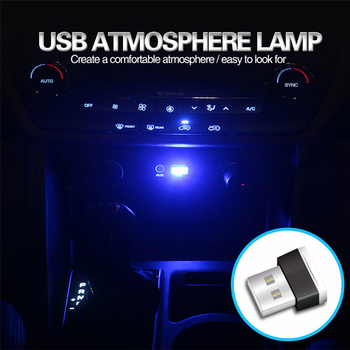 Car LED Light Decorative Lamp USB 1pcs Universal Auto Electronic Night Lights Atmosphere Lamps Car-styling Interior Accessories image