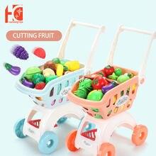 Детская корзина для покупок игрушки девочек большая тележка