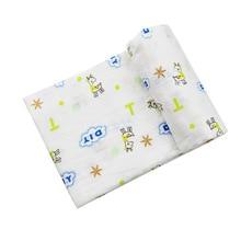 120*120cm Soft Muslin Blanket 100% Cotton Baby Swaddling Newborn Blankets Bath Gauze Infant Kids Wrap Sleepsack Stroller Cover