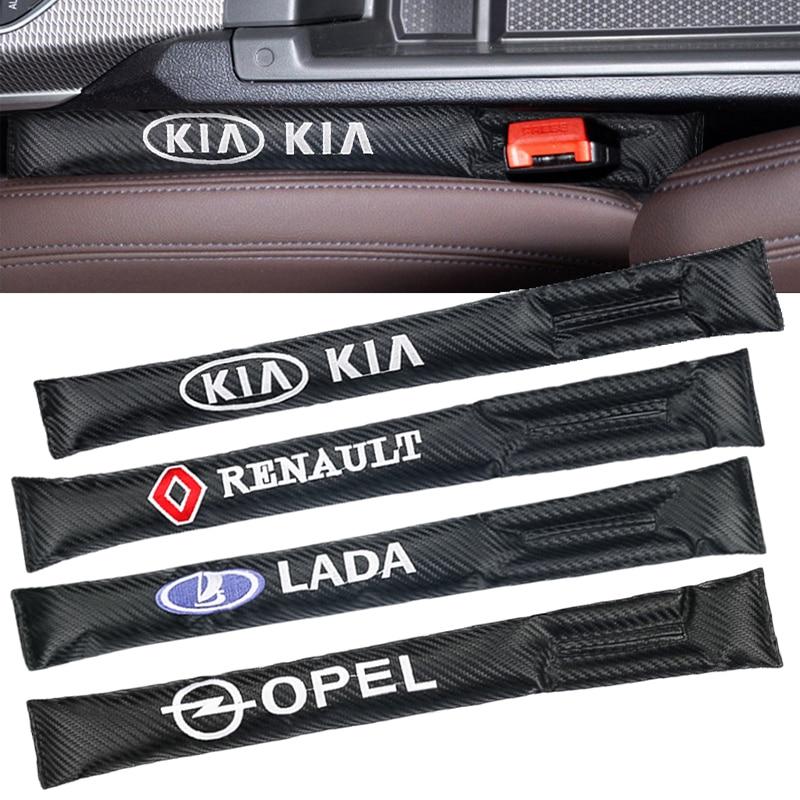 2PCS Car Seat Gap Pad Spacer Fillers Slot Plug For Peugeot BMW MINI Audi Ford Honda Toyota SUZUKI LADA Renault Car Accessories