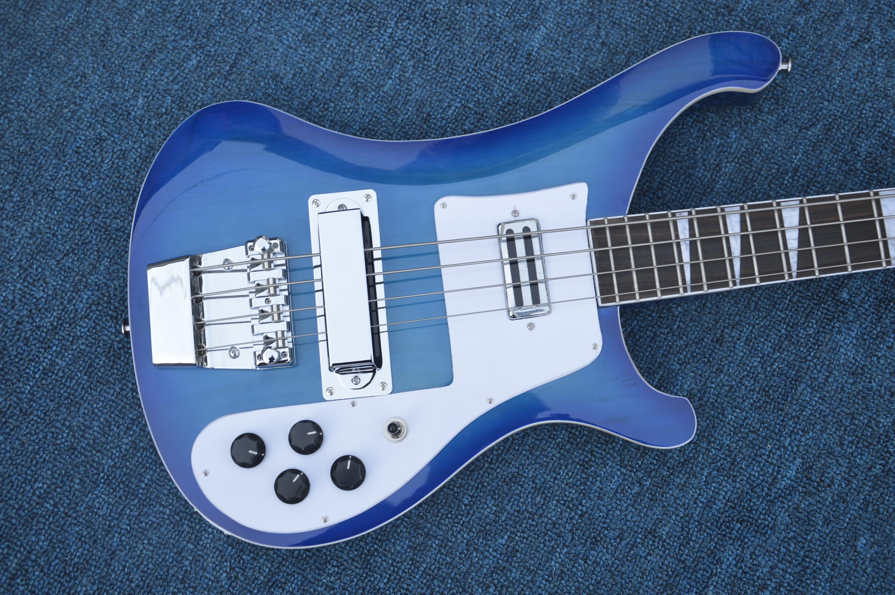 2019 haute qualité usine directe guitare électrique basse guitare chaîne bleu nouveau 4 livraison gratuite