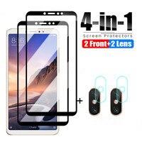 Vetro protettivo 4 in 1 per Xiaomi Mi Max 3 2 Mix 2 2S 3 vetro temperato per Xiaomi Mi A3 A2 Lite A1 pellicola protettiva per vetri