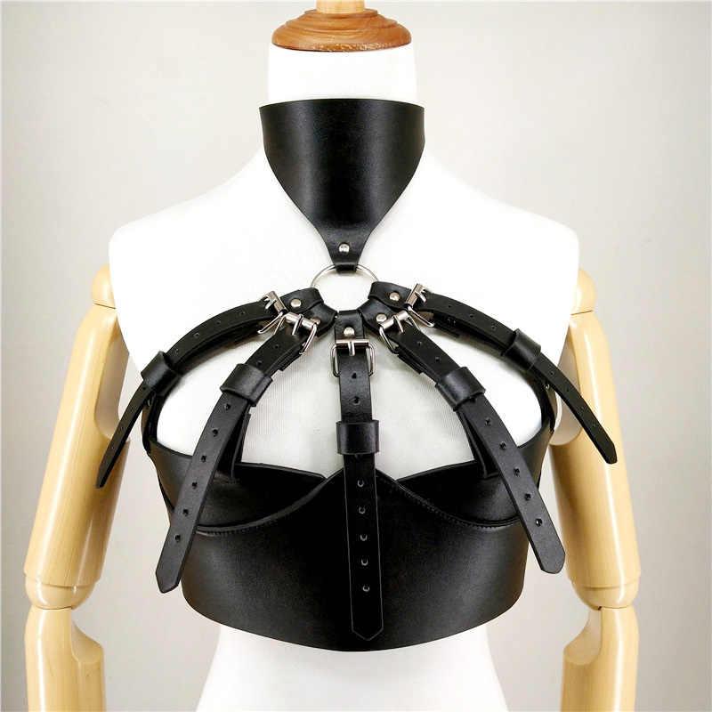Selfbondage de moda ajustable cuello colgante de lujo cinturón de castidad femenina cinturón para Lencería erótica Brasier Sexy Lencería Mujer