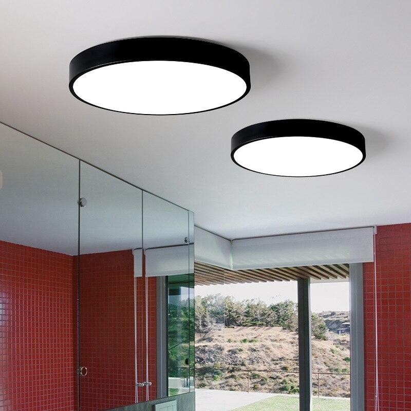 Vindingrijkheid guang yi Macarons Plafond LED Cirkel Ijzer Art Ultradunne Woonkamer Slaapkamer Lamp Balkon Plafond Lampen