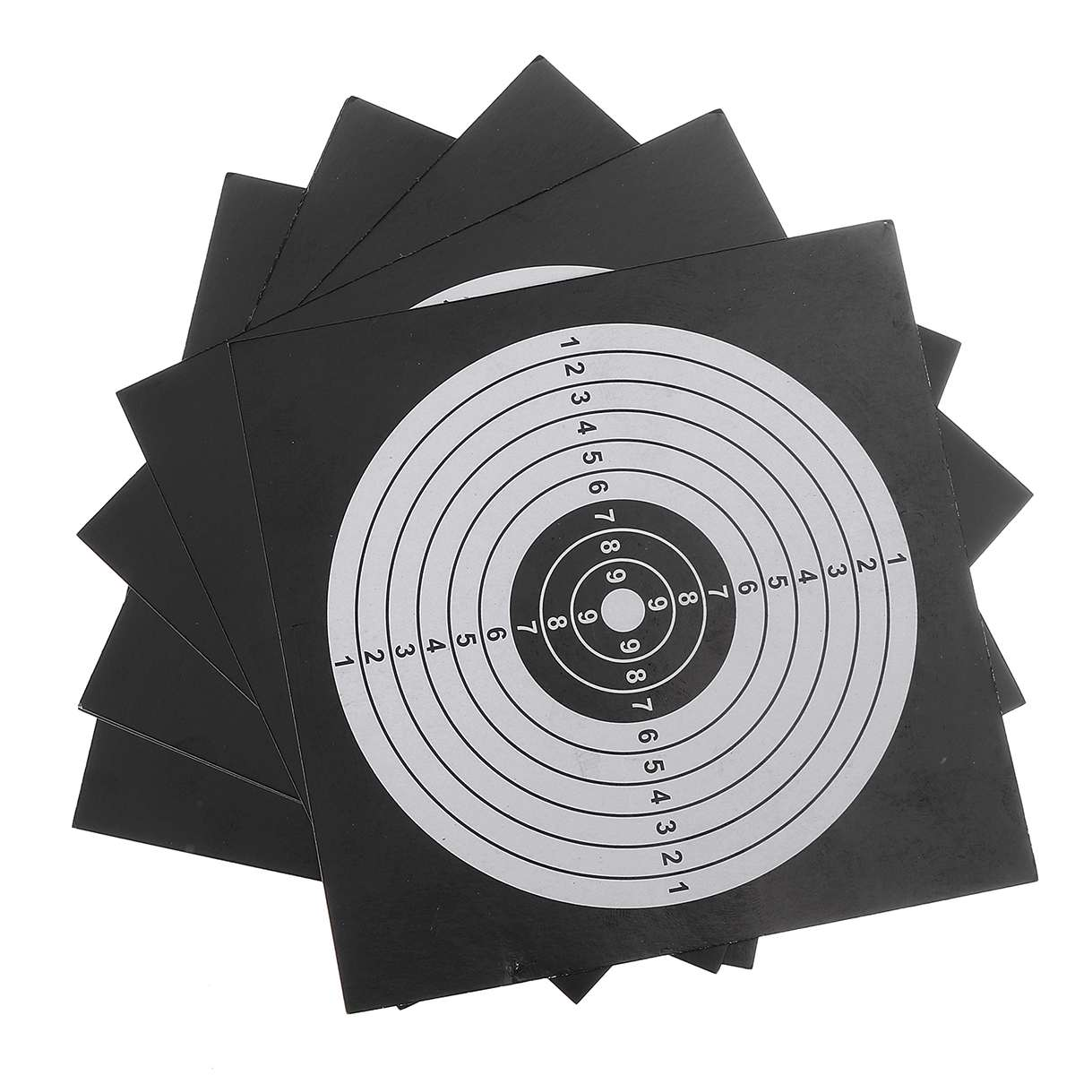 100pcs Shooting Target Paper Archery Targets Bow Arrow Gauge Tools Shooting Training Practice Paintball Accessories 14x14cm