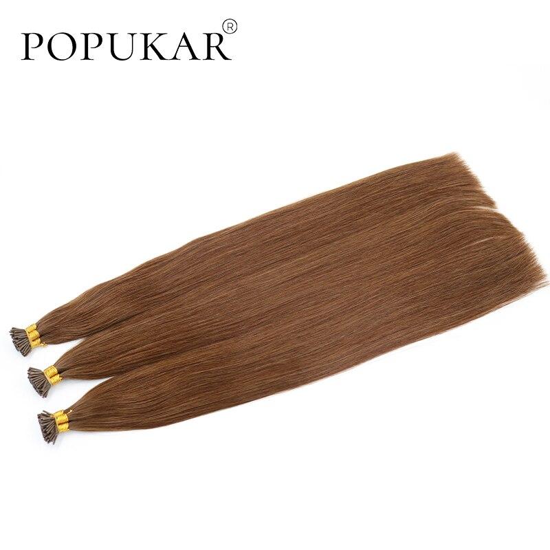 Popukar High Quality European Virgin Hair 30 Strands Silky Straight Cuticle Aligned I Tip Prebonded Hair Extensions