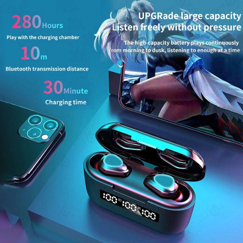 SL-G40 Беспроводной Bluetooth гарнитура наушники 9D HD сенсорный контроль светодиодный Bluetooth 5,1 наушники Универсальные