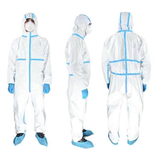 Professional PPE Suit Disposable Isolation Protective Clothing Coveralls Safety Hazmat Suit Non-woven Safety Clothing 1