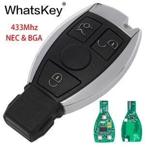 WhatsKey 3 кнопки 433 MHz умный дистанционный ключ для Mercedes Benz 2000 + NEC & BGA Тип замена чипа одн C E W222 W211 W210 W204