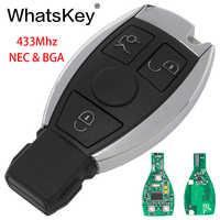WhatsKey 3 Tasten 433 MHz Smart-Remote-Key Für Mercedes Benz 2000 + NEC & BGA typ ersetzen NEC Chip MB C E W222 W211 W210 W204