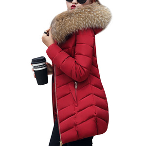 Image 3 - 2019 Winter Women Down Jackets Warm Parka Inflatable Coats With Fur Collar Hooded Female Winter Clothes Fashion Thick Outwear