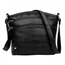 Aibkhk New Simple Leather Crossbody Bags For Women Messenger Bags Handbags Women Famous Brands Three Zipper Shoulder Bag цена 2017