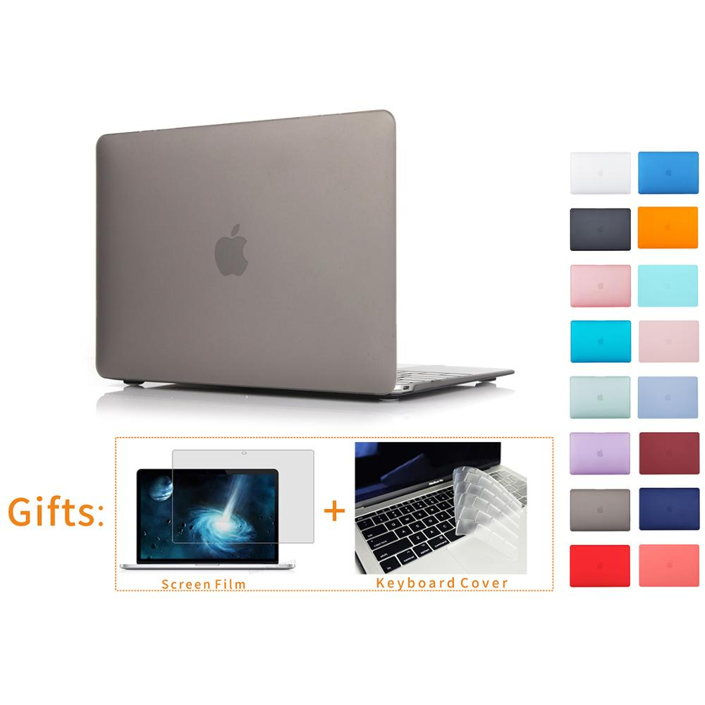 Matte Laptop Cover Case For  For Apple Macbook Air Pro Retina 11 12 13 15 Inch For New Mac Book Air Pro 13.3 A1466 Shell+Gifts