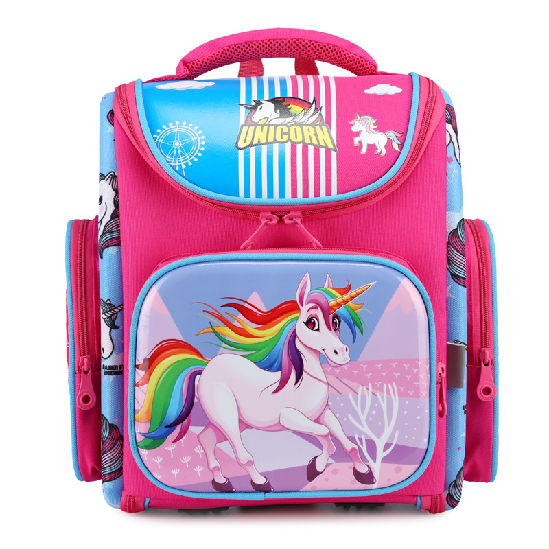 2020 School Bag For Girls Boys Children Orthopedic Backpack Kids Cartoon Unicorn Waterproof School Backpacks Primary 1-3-6 Grade