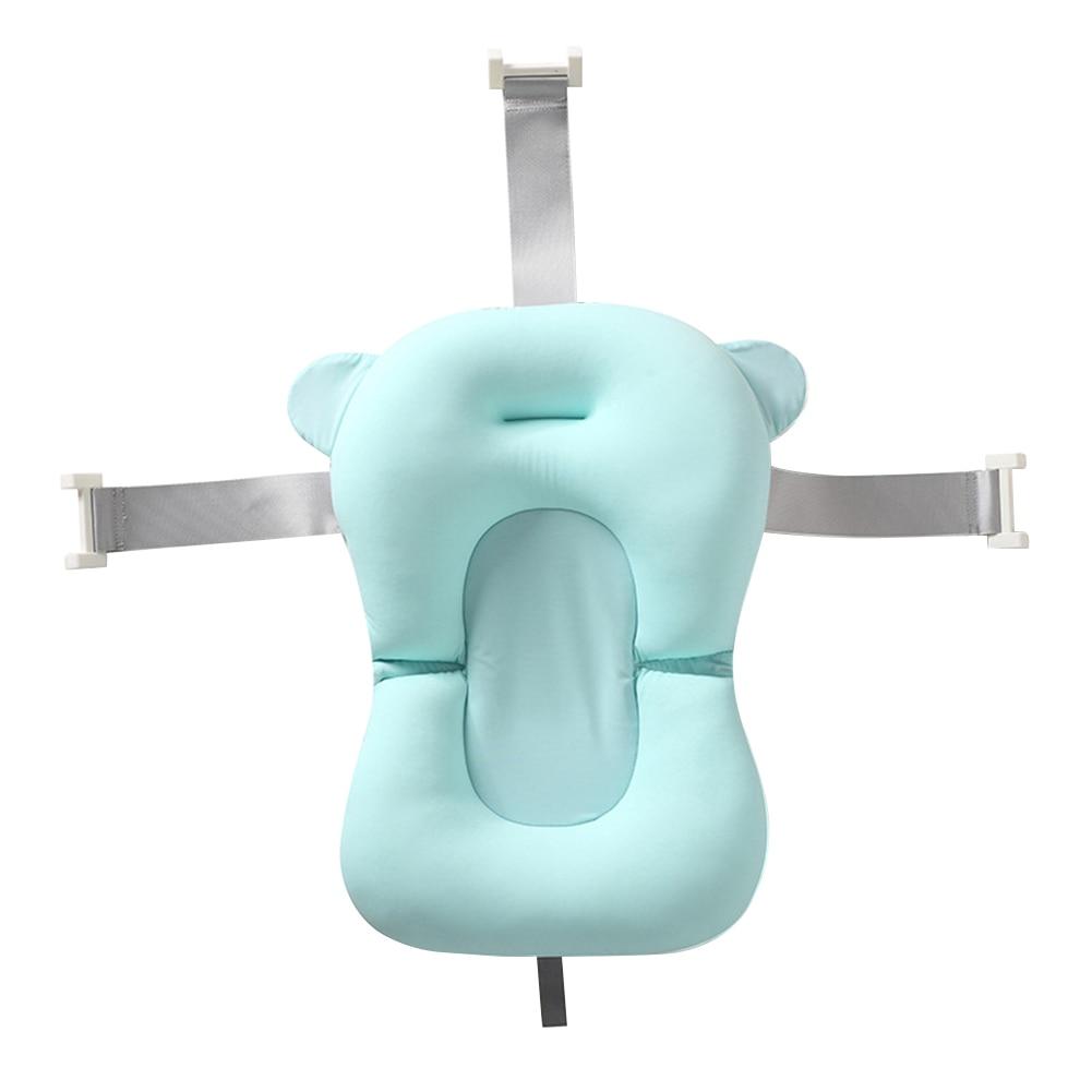 Breathable Hanging Holes Non-Slip Newborn Shower Portable Adjustable Buckle Skin Friendly Leak Proof Soft Bathroom Bath Tub Pad