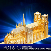 3D Metal-Model Kit Notre Dame  Assembly Laser Cutting DIY- Model-Puzzle Construction Educational Toys cool red devil warrior big scorpion behemoth monster 3d metal puzzle diy assembly model kit toys for children gifts