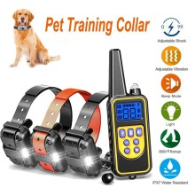 800m Electric Dog Training Collar Waterproof Rechargeable Dog Collar With Remote Control Receiver Pet Training Collar