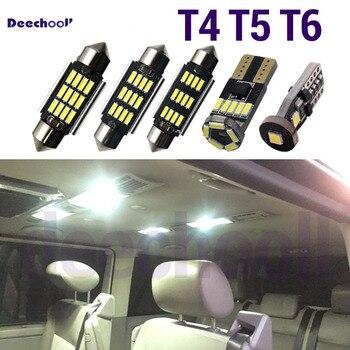 34 x LED Canbus lámpara para reposapiés bombillas + interior de luz de mapa Kit para VW Volkswagen T4 T5 T6 Multivan Caravelle transportador