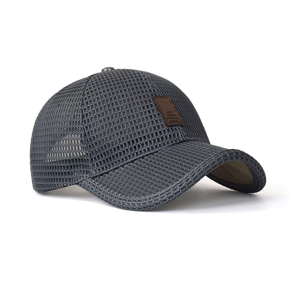 2019 New Hiphop Hat Sunproof Cap Visor For Men Women Adjustable Mesh Baseball Cap Outdoor Sunscreen Breathable Wholesale