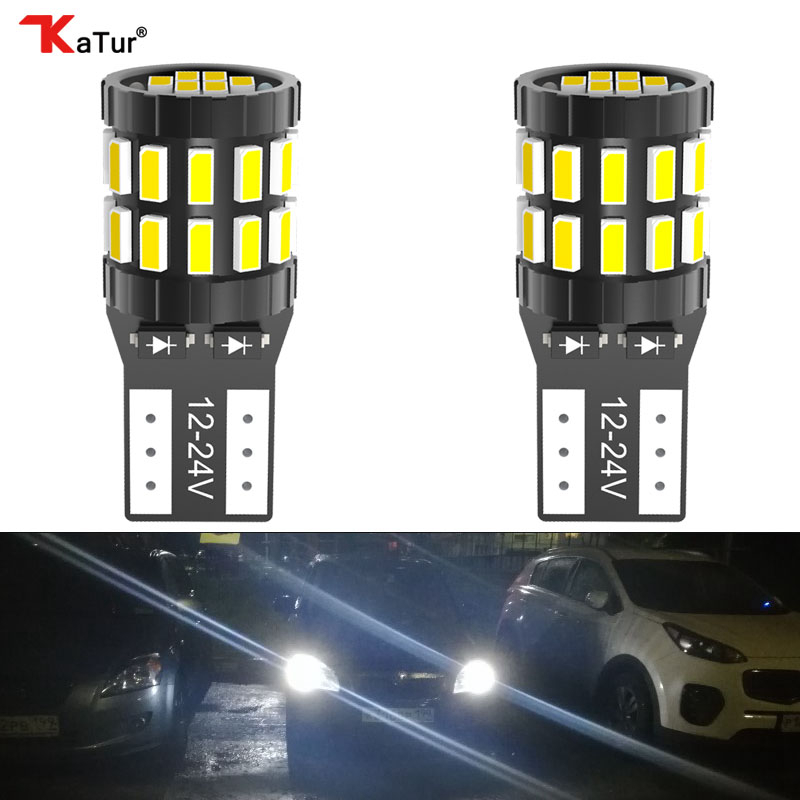 Katur 2x Canbus T10 W5W LED 168 194 Clearance Lights Super For Mercedes Benz W221 W220 W163 W164 W203 C E SLK GLK CLS M GL