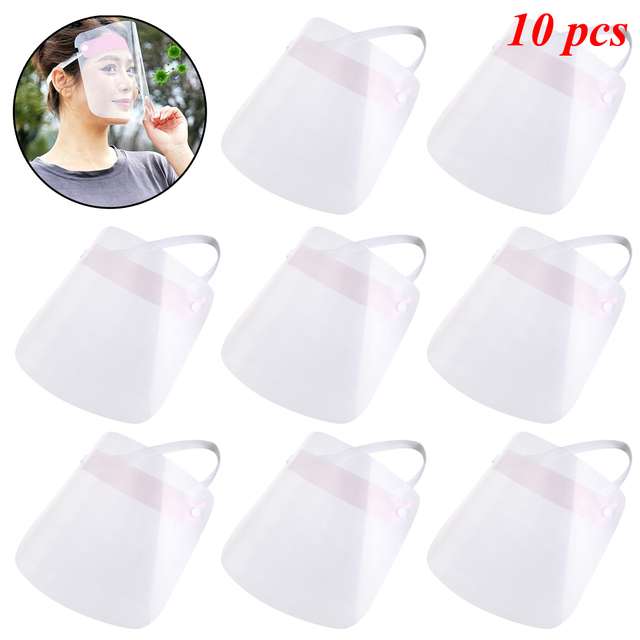 1/2/4/10 PCS Full Face Shield Mask Clear Flip Up Visor Protection Safety Work Guard For Droplet, Dust,Oil Fume(Pink) 4
