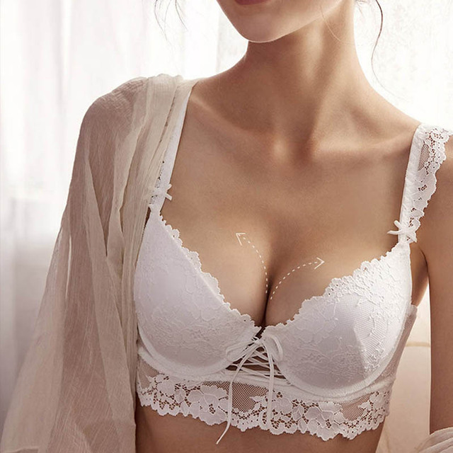 CINOON  New Women's underwear Set Sexy Push-up Bra And Panty Sets Hollow Brassiere Gather Sexy Bra Embroidery Lace Lingerie Set 2