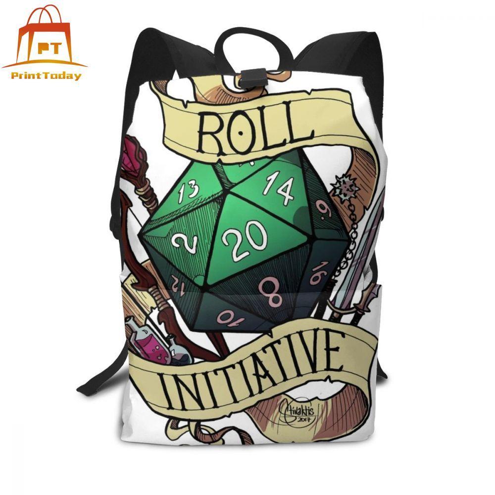 Games Backpack Roll Initiative Backpacks High Quality Trending Bag Man - Woman Print Multifunctional Schoolbag Student Bags