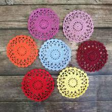 Doily-Mat Coaster Crochet Round 10cm Cup-Pad Placemat Christmas Modern Latest