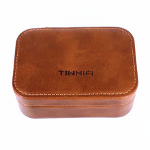 TINHIFI Earphone High end Leather Case Magnetic headphone headset cable Storage Box Digital Package TIN P1 T2 T3 AS10 AS16 V80