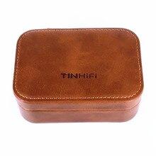 TINHIFI אוזניות High end נרתיק עור מגנטי אוזניות אוזניות כבל אחסון תיבת דיגיטלי חבילה פח P1 T2 T3 AS10 AS16 V80