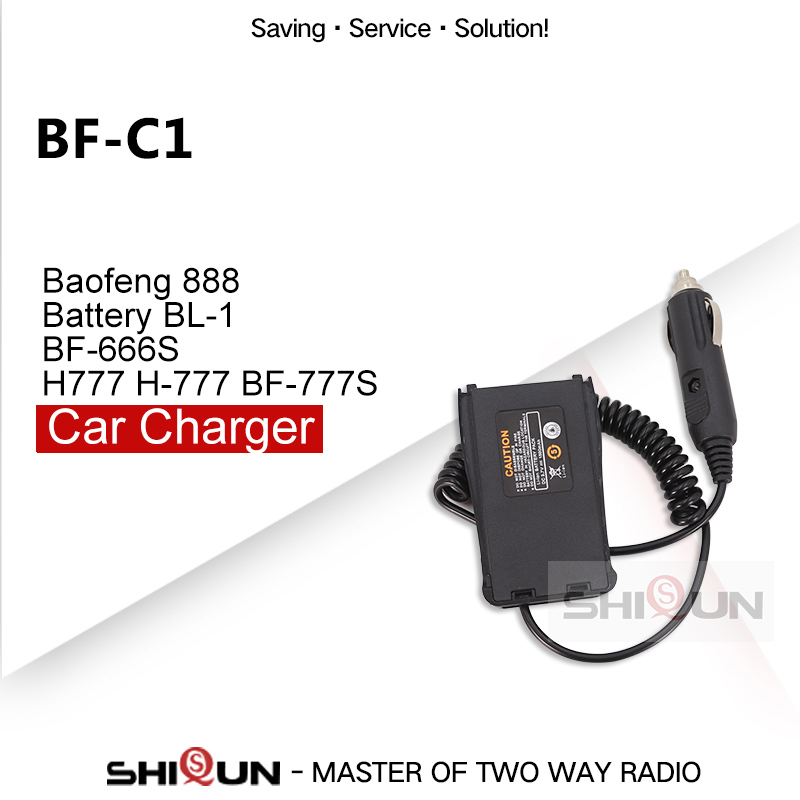 Original Battery Eliminator Car Charger For Baofeng 888S BF-C1 Baofeng 888 Battery BL-1 BF-666S Compatible H777 H-777 BF-777S