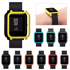 Image 3 - 4in1 for Xiaomi Huami Amazfit Bip Strap wristband Nylon Loop Smartwatch Bracelet amazfit bip Case cover with Screen protector